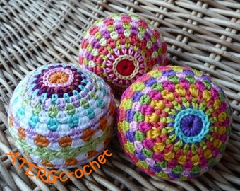 Crochet pattern rainbow ball by ATERGcrochet