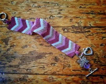 Peyote Stitch Package - 4 projects in one tutorial - Odd Count Ring, Even Count Ring, Flat Bracelet, Reversible Triangle Pendant
