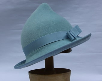 Blue Elf Fleur Witch Hat Millinery Halloween Costume Spring