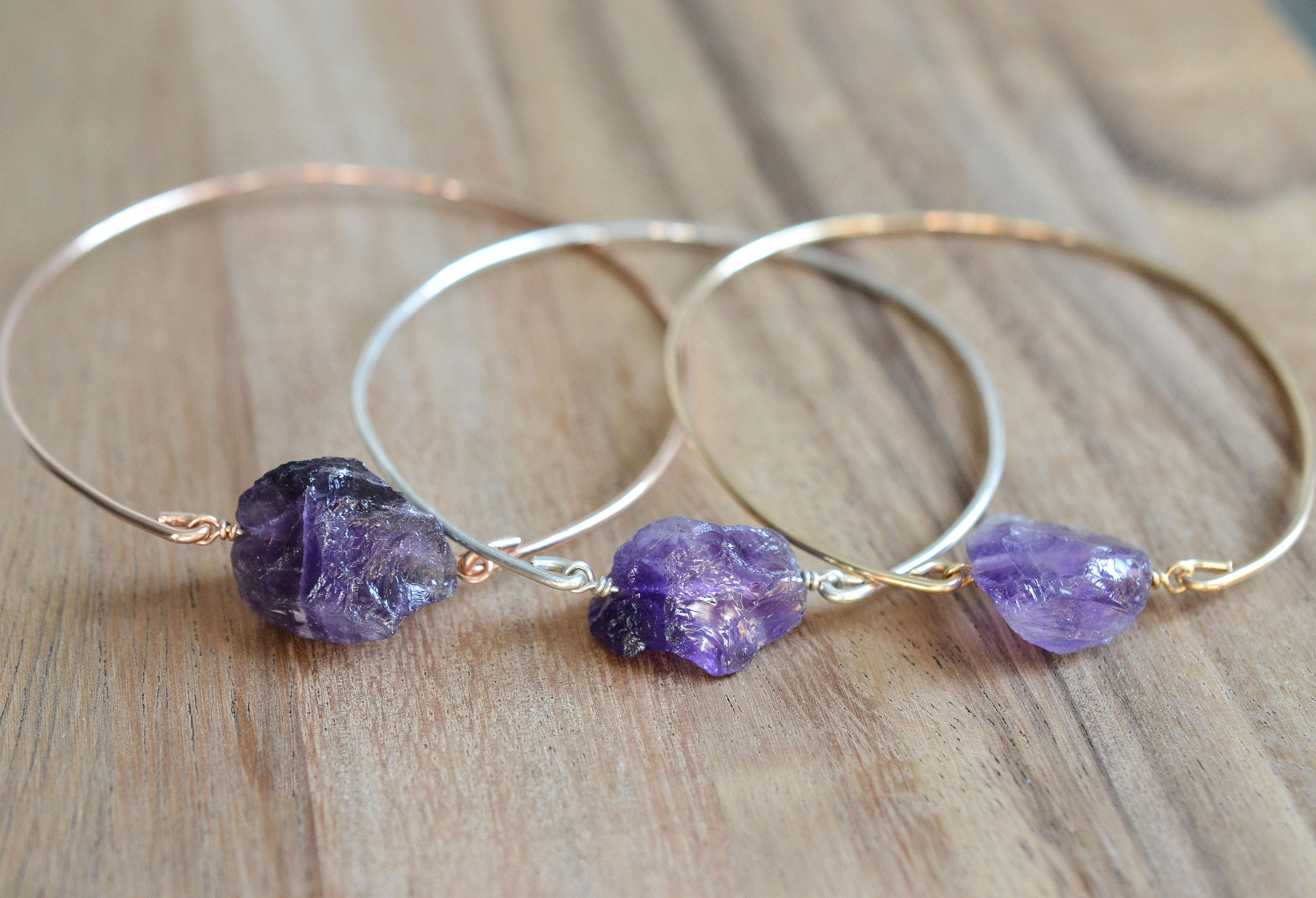 amethyst in bangle bracelet bangles silver sterling