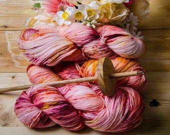 Aurora - Sturdy Sock Hand Dyed  Sock Yarn Superwash Merino Nylon