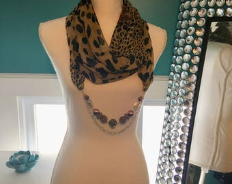 Scarf Necklace - Eye of the Tiger