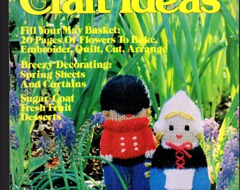Decorating Craft Ideas - Vintage magazine, May 198