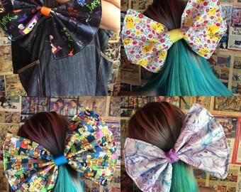 Giant Geek Hair Bows