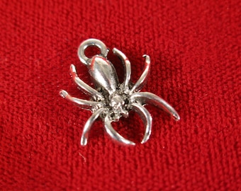"BULK! 30pc ""spider"" charms in antique silver style (BC176B)"