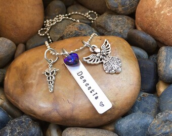 Dementia Necklace | Dementia Jewelry | Medical Alert Necklace | Medical Alert Jewelry | Dementia Awareness Jewelry | Diagnosis Gift