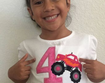 Monster Truck Birthday Shirt for Boys + Girls (1-6 years old)