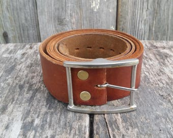 Vintage leather belt, Mens brown belt, Genuine leather belt, Handmade leather belt, Men accessory, Belt buckle, Distressed belt.
