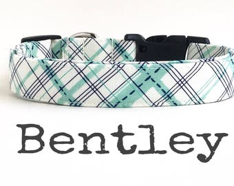 LaST CHaNCe -Boy Dog Collar, Plaid Dog Collar, DOG COLLARS, The BeNTLeY, Dog Collar, Dog Collars for Boys, Preppy Dog Collar, Southern Charm