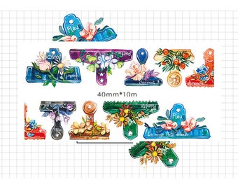 1 Roll of Limited Edition Washi Tape:  Floral Clip
