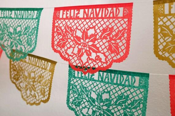 FELIZ NAVIDAD Papel Picado banners Christmas decorations