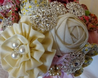 Fabric bouquet for a wedding