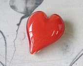 Coral Red Heart, Solid He...