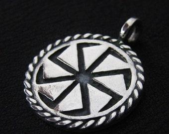 Silver Kolovrat pendant