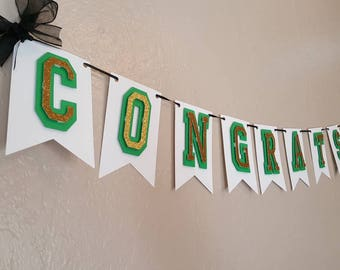 Graduation Congrats and Name Banner