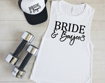 Bride and Boujee, Bride Workout Tank, Wedding Workout, Bride Gift, Bride Workout Shirt, Engagement Gift, Bridal Shower Gift