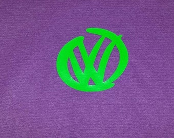 Youth VW Inside T Shirt, Shown on a purple T with Green design