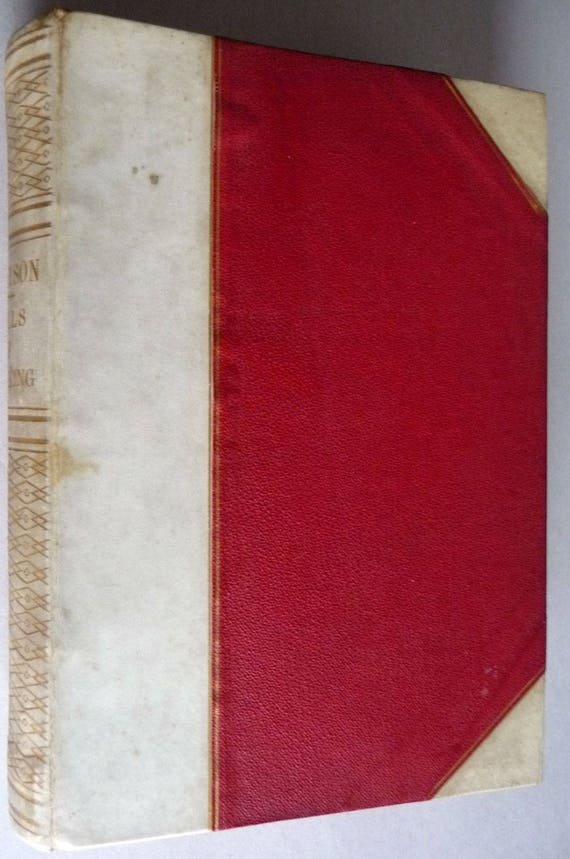 Idylls of the King Enid & Coming of Arthur Tennyson Collectible Ca 1880s Antique Fine Binding by an Italian Master