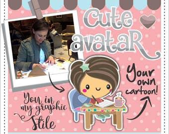 Custom Character, Avatar, Custom Clipart, Portrait, Cartoon, Caricature, Character Logo Design, Cartoon, Personalized, Self Avatar, Cute
