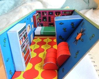 Hey Arnold! DIY Diorama- Bedroom-Nickelodeon-Art- 1:48 1/4
