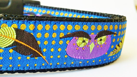 The Modern Owl - Dog Collar / Handmade / Adjustable / Pet Accessories / Pet Lover / Gift Idea