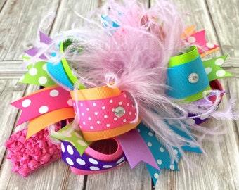 Custom Hair Bow Over the Top,Custom Baby Headband,Baby Headbands,Baby Headband,Custom Baby Bows,Feather Headband,Baby Girls Headband,Big Bow