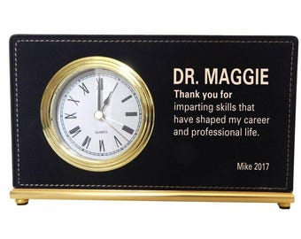 Gift for Mentor - Boss Appreciation Gifts Personalized - Gift for Director - Office Desk Clock - Boss Lady Gift - Boss Female, LB009