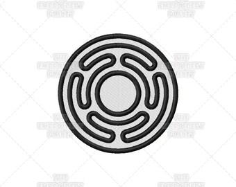 Hekate's Wheel Circle Spiritual Religious Sacred Symbol Machine Embroidery Pattern Design