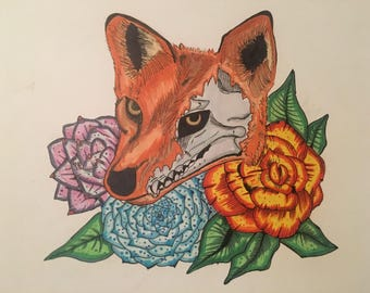 "8x10 ""Vixen in Bloom"" glossy print"
