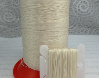 Cream Silk Like Beaders Secret Knotting Thread Beading Stringing Sewing 990 yards 900 meters Polyester Spool Neutral