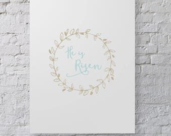 He is Risen - Easter Printable - Digital Download