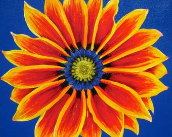 Gazania - original acrylic on canvas painting by Heather Holland
