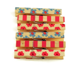 Magnetic Clothespins Altered Clothes Pins Decorative Clothespins  in Roxie