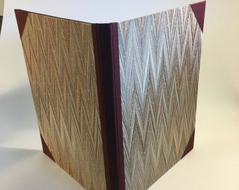 """Tablet Cover for 9"""" x 12"""" legal pad. Made from actual cover of old book! Marbled paper cover"""