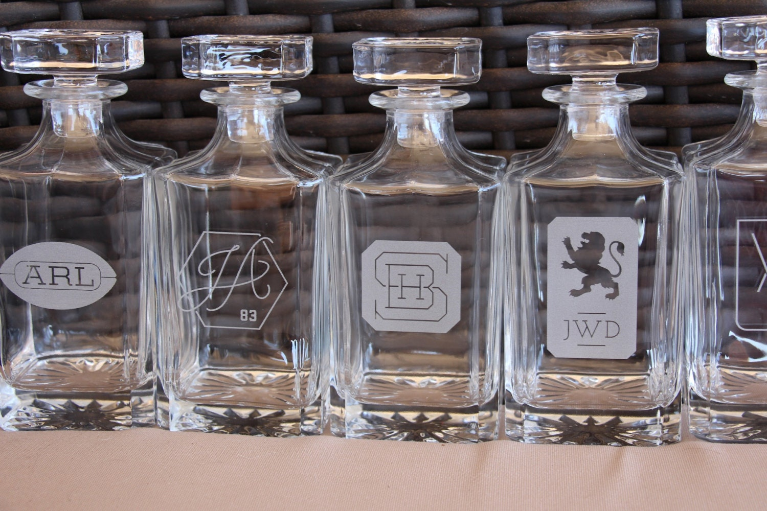 Personalized whiskey decanter custom logo engraved glass zoom reviewsmspy