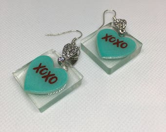 XoXo Heart Earrings
