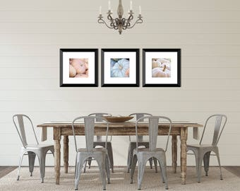 Rustic Kitchen Decor, Pumpkin Photography, Blue Pumpkin, Pastel Kitchen Art, Autumn Wall Decor, Rustic Fall Art, White Pumpkin, Set of 3