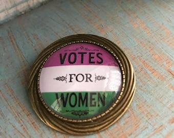 Votes for Women Suffragette Brooch