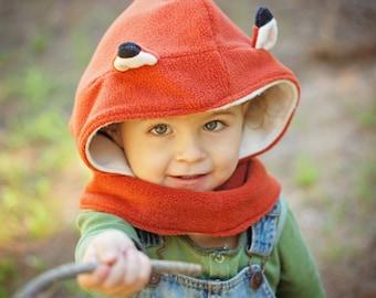 Children Fox Hat, Fox Costume Hat, Fox Hooded Cowl