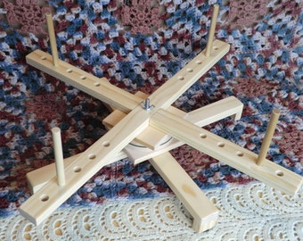Collapsible Amish-style yarn swift -- Taylor model