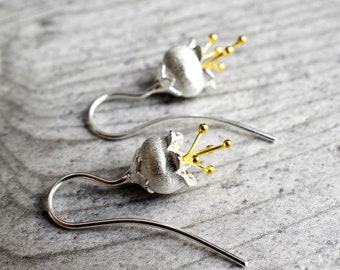 "925 Silver Earrings ""Bellflowers"""