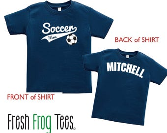 Soccer Mom Shirt with player name - Sports Mom Shirt - Pick your colors!