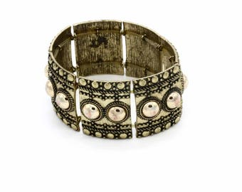 Gold Metal elastic bracelet