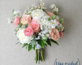 wedding bouquet, bridal bouquet, pink wedding bouquet, wedding flowers, wedding flower set, silk wedding bouquet, artificial bouquet, boho