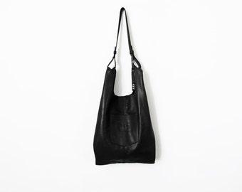 Black leather bag - Black leather tote - women bags soft leather bag - leather handbag - handmade bag - leather shoulder bag - Black bag