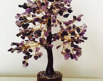 Amethyst Gemstone Tree, Amethyst Tree, Gemstone Tree, February Birthstone, Amethyst Birthstone Gift, Purple Tree