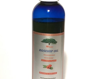 UNREFINED 4 Oz Cold Pressed ROSEHIP OIL 100% Organic Pure Rose Hip Oil Natural