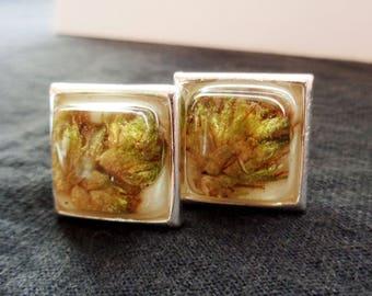 Silver Cannabis Cuff Links-Unique Cufflinks-Weed Cuff Links-Modern Cuff Links-Silver Cufflinks-Marijuana Cufflinks-Unique Gifts for Men