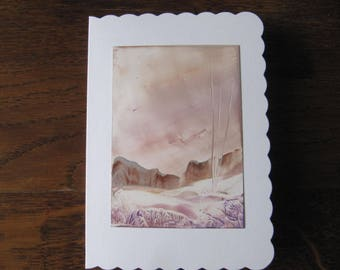 Wonderful Iceland 2 original Encaustic Painting greeting card