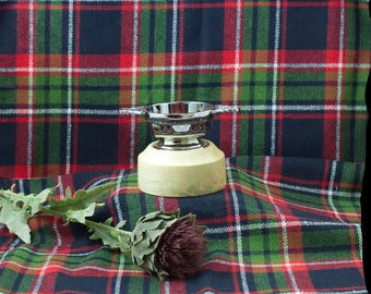 """Hand Made  Quaich 3"""" with wooden base ( From the Highlands of Scotland )"""